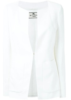 Etro hook-fastening fitted jacket