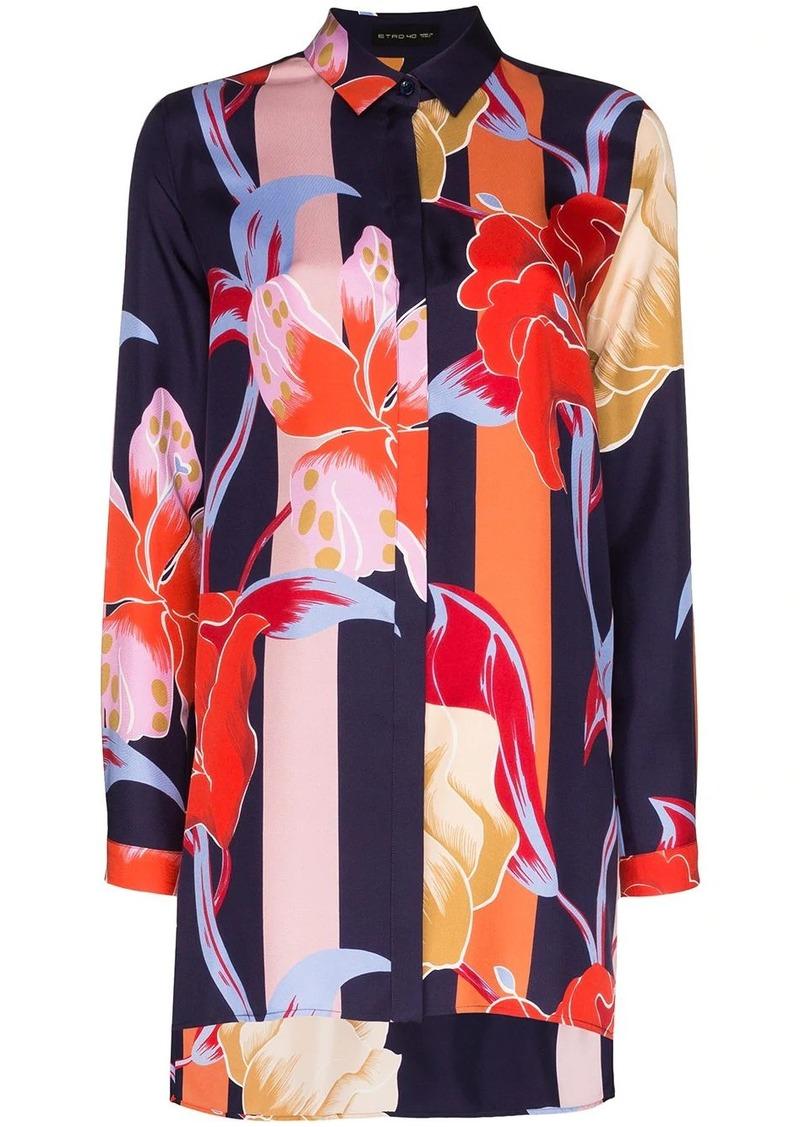 Etro oversized floral-print shirt