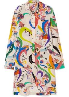 Etro Oversized Printed Silk Crepe De Chine Shirt