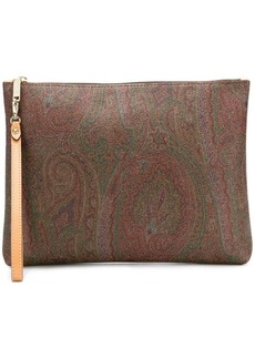 Etro paisley clutch bag
