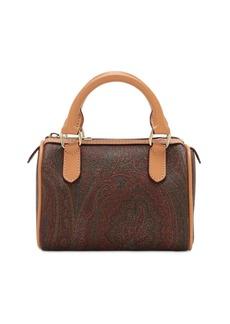 Etro Paisley Coated Cotton Top Handle Bag