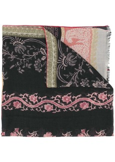 Etro paisley embroidered cashmere scarf