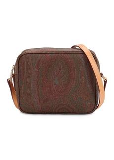 Etro Paisley Faux Leather Shoulder Bag