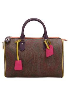 Etro Paisley Faux Leather Top Handle Bag