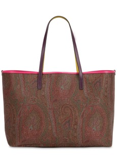 Etro Paisley Faux Leather Tote Bag W/ Pouch