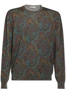 Etro Paisley Intarsia Wool Knit Sweater
