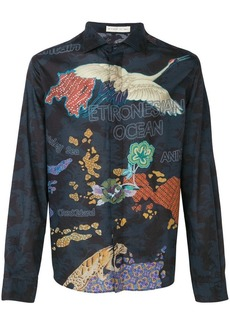 Etro paisley island-print shirt