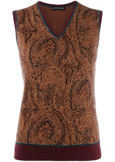 Etro paisley knitted vest