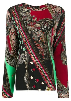 Etro paisley long-sleeve top