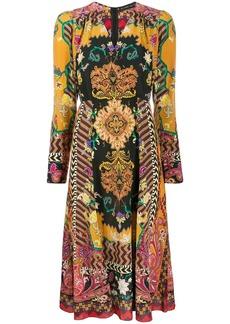 Etro paisley midi dress