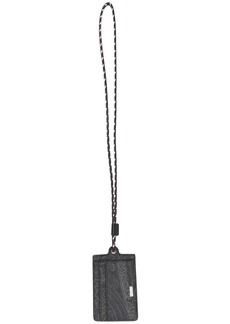 Etro paisley neckstrap card holder