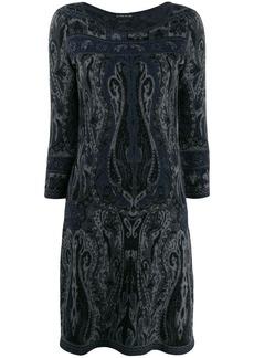 Etro paisley pattern knit dress
