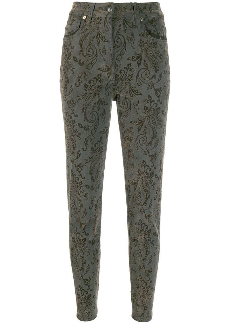Etro paisley pattern skinny jeans