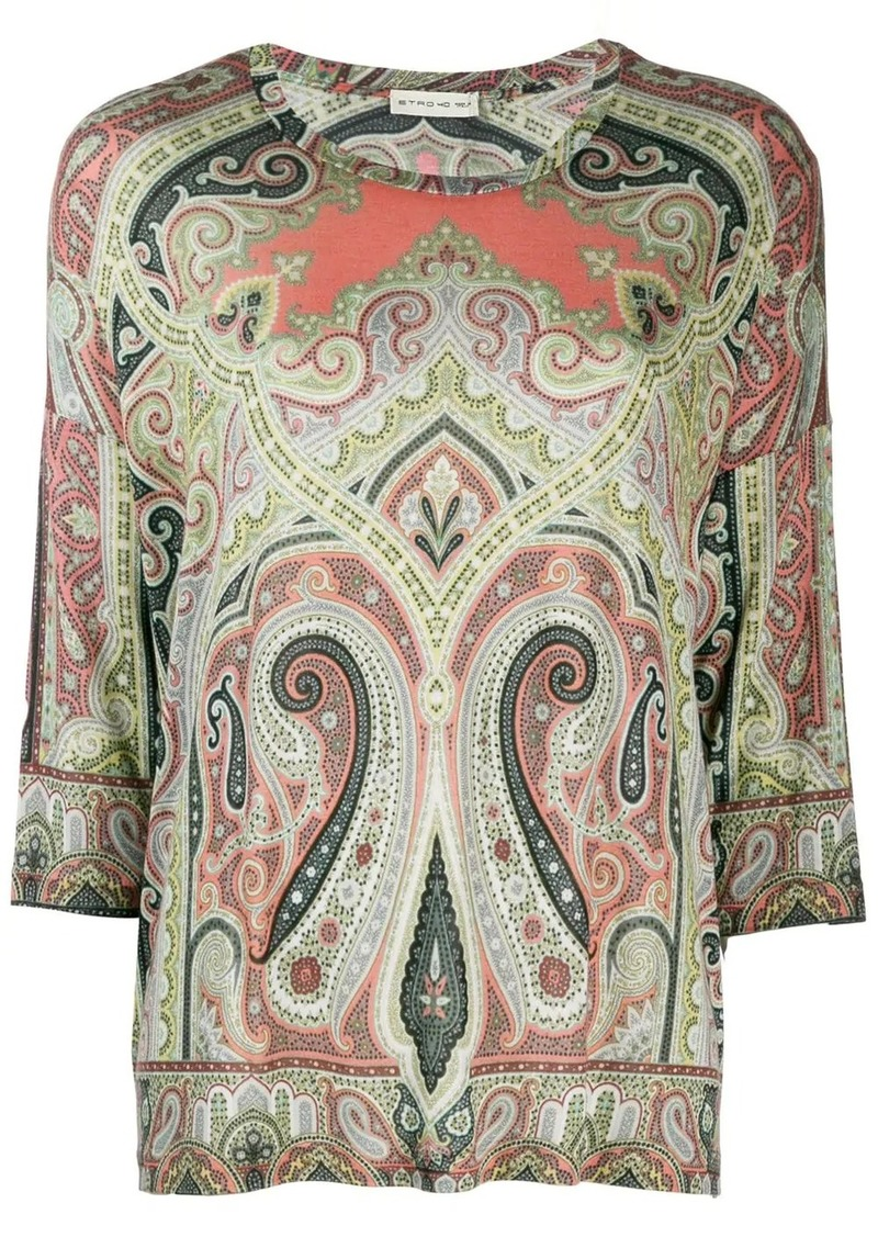 Etro paisley pattern top