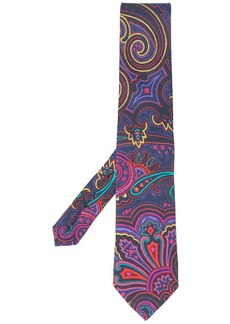 Etro paisley patterned tie