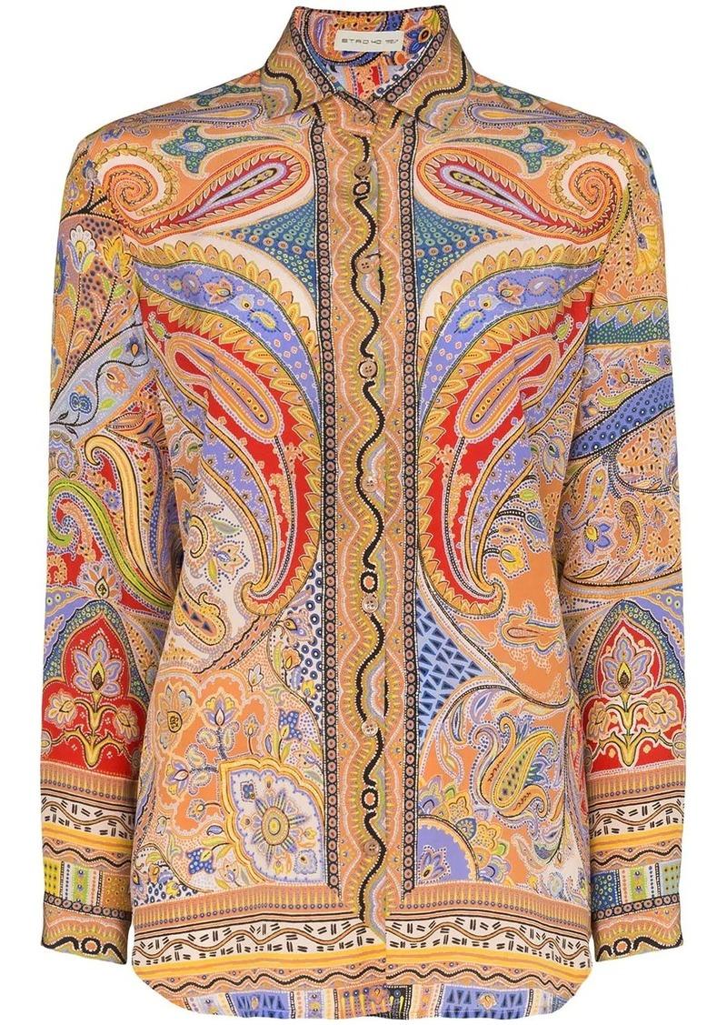 Etro paisley print buttoned shirt