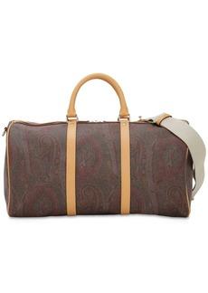 Etro Paisley Print Coated Cotton Duffle Bag