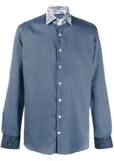 Etro paisley print collar shirt