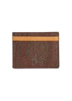 Etro Paisley Print Cotton Blend Card Holder