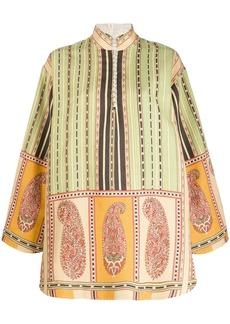 Etro paisley print detailed mini dress