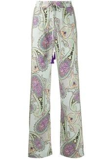 Etro paisley-print drawstring trousers