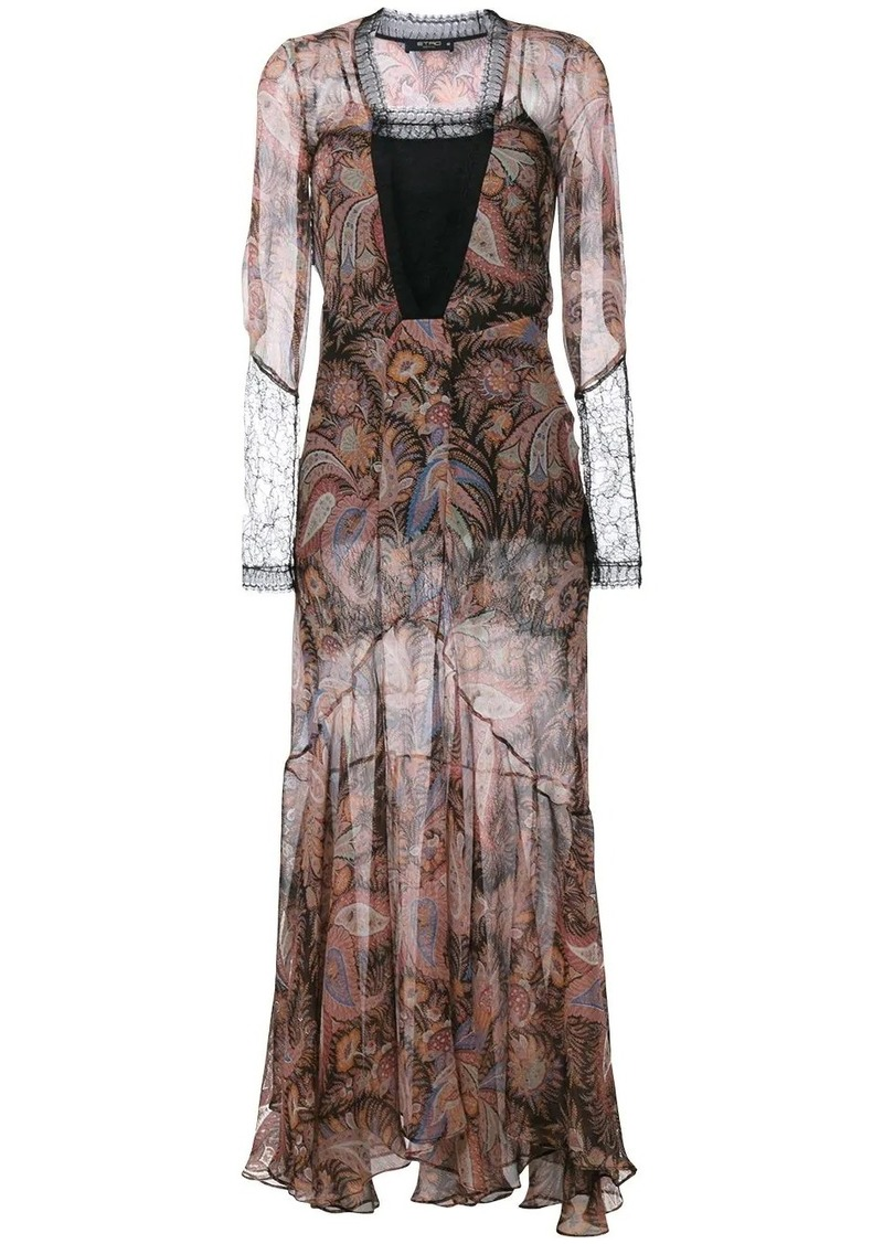 Etro paisley print evening dress
