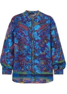 Etro Paisley-print Fil Coupé Silk-blend Georgette Blouse