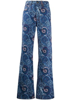 Etro paisley print flared jeans