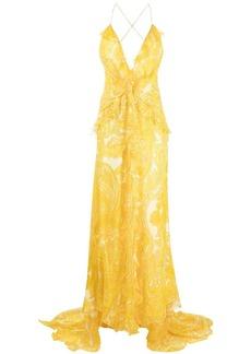 Etro paisley print floor-length dress