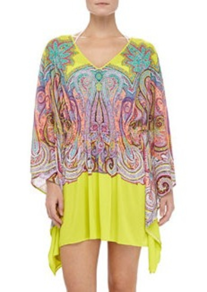 Etro Paisley-Print Jersey Coverup   Paisley-Print Jersey Coverup