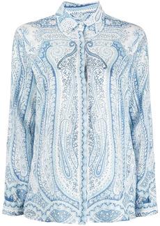 Etro paisley-print long-sleeve blouse