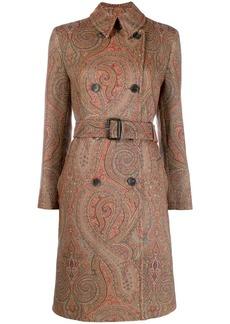 Etro paisley print midi coat