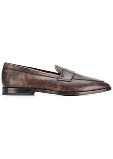 Etro paisley print penny loafers