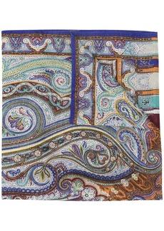 Etro paisley print fine knit scarf