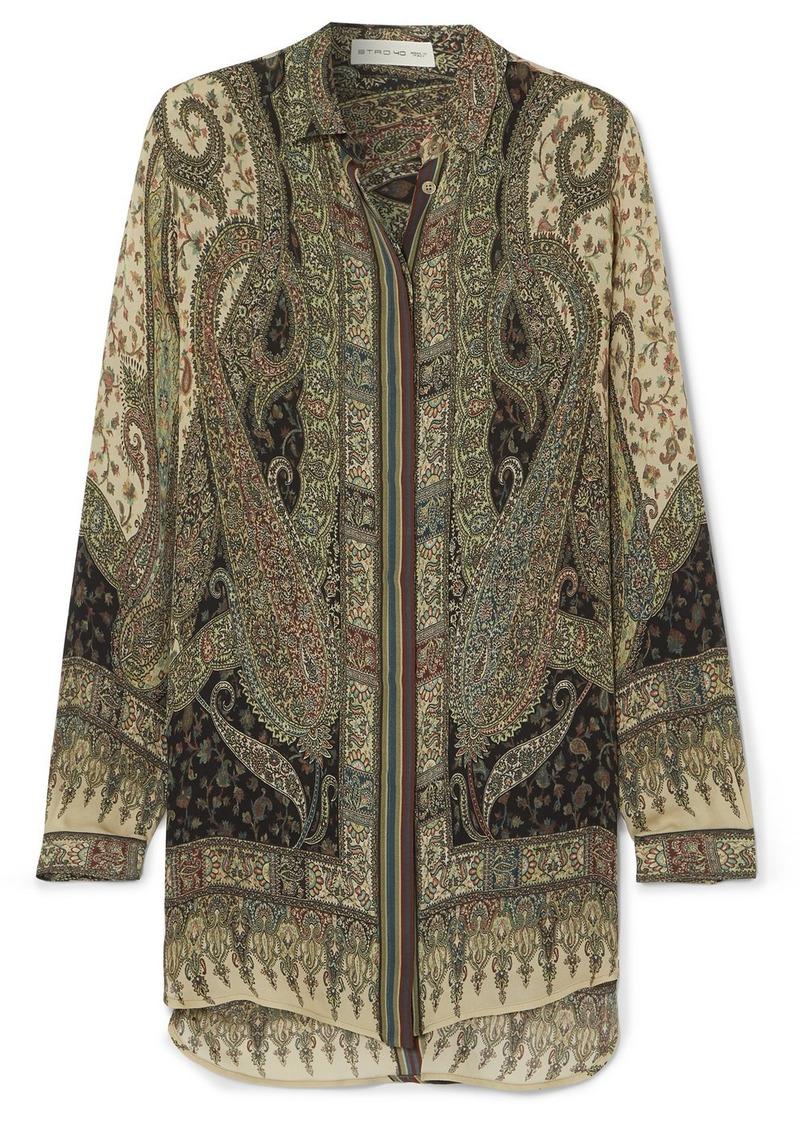 Etro Paisley-print Silk Crepe De Chine Shirt