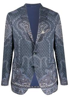 Etro paisley-print single-breasted blazer