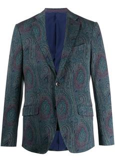 Etro paisley print single-breasted blazer