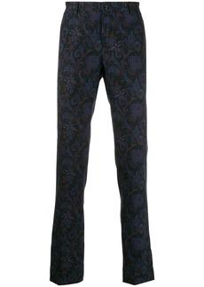 Etro paisley print slim-fit trousers