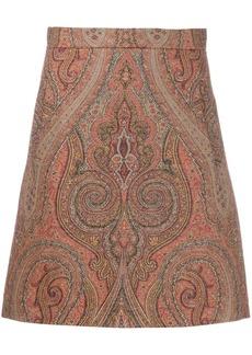 Etro paisley print straight skirt