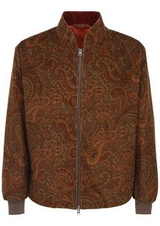 Etro Paisley Print Velvet Bomber Jacket