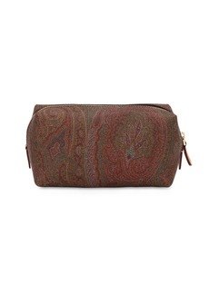 Etro Paisley Printed Faux Leather Zip Case