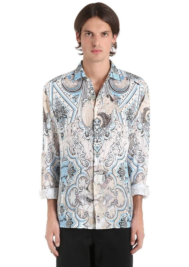 Etro Paisley Printed Fluid Linen Shirt