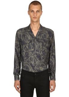 Etro Paisley Printed Fluid Silk Pajama Shirt