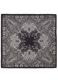 Etro Paisley Printed Silk Pocket Square