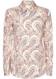 Etro Paisley Printed Stretch Cotton Shirt