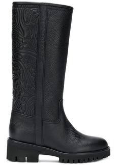 Etro paisley relief boots