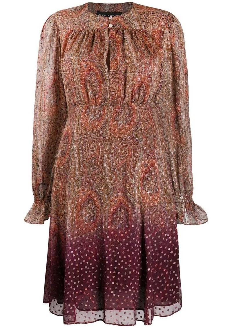 Etro paisley shift dress