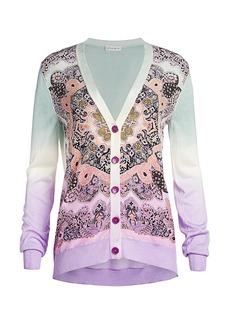 Etro Paisley Silk Panel Cardigan