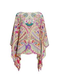 Etro Paisley Silk Poncho