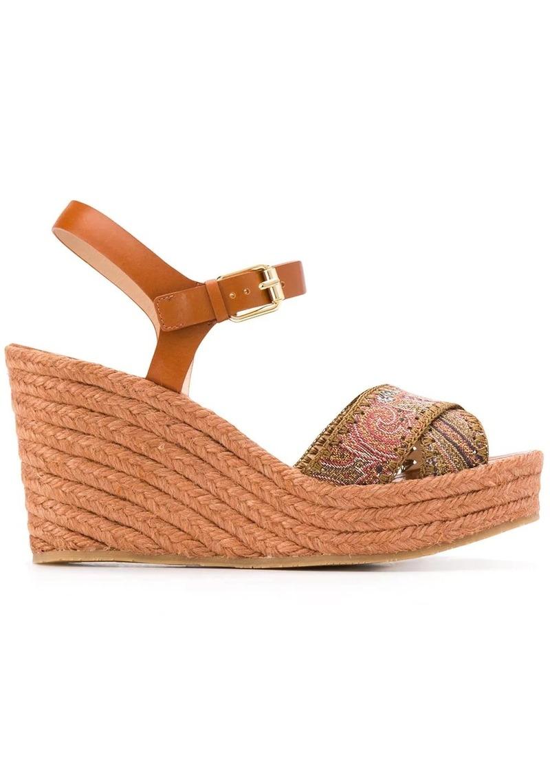 Etro paisley-strap sandals